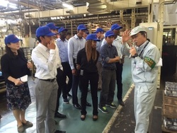 Knowledge and Innovation Management students at Mitsubishi Motors Kyoto Powertrain Plant