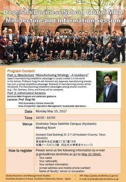 Information Session in Tokyo May 15