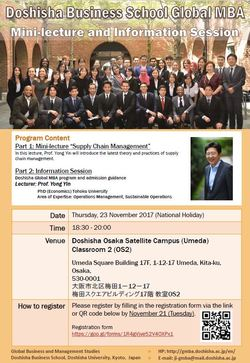 Information Session in Osaka