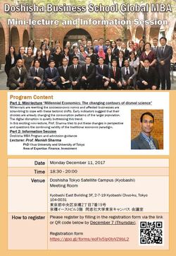 Information Session in Tokyo