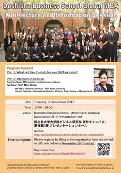Information Session on Imadegawa/Muromachi Nov. 30
