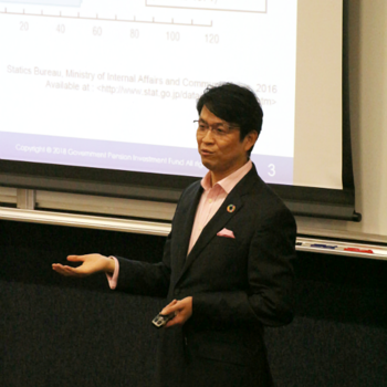 GPIF's Mr. Hiro Mizuno offers special lecture at DBS